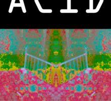 Acid Glitch Print Design Sticker