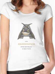 A is for Anurognathus Women's Fitted Scoop T-Shirt