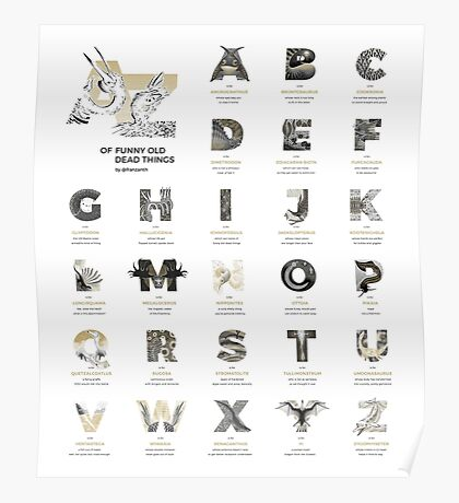 A-Z of Funny Old Dead Things Poster