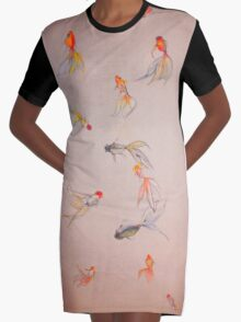 Goldfish Pond Graphic T-Shirt Dress