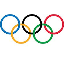 The Olympic rings Photographic Print
