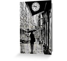 new york walk Greeting Card