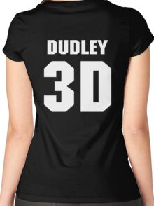 "Dudley Boyz ""Dudley 3D"" Women's Fitted Scoop T-Shirt"