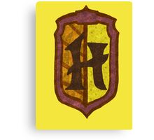 Hufflepuff House Crest 2 Canvas Print