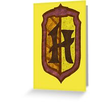 Hufflepuff House Crest 2 Greeting Card