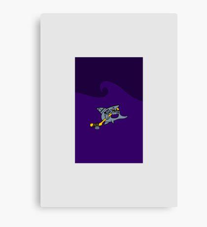 Hockey Shark VRS2 Canvas Print