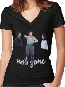 Not Gone Women's Fitted V-Neck T-Shirt