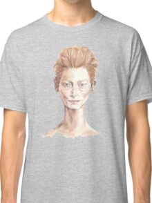 Tilda Red Head Face Portrait Drawing Classic T-Shirt