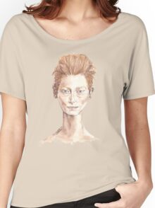 Tilda Red Head Face Portrait Drawing Women's Relaxed Fit T-Shirt