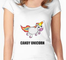 Candy Unicorn Women's Fitted Scoop T-Shirt