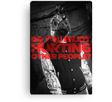 Hotline Miami: Do You Enjoy Hurting Other People? Canvas Print