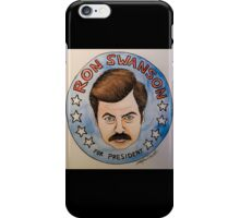 Ron Swanson for President Watercolor iPhone Case/Skin