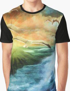 Seagull Fantasy Flight Graphic T-Shirt
