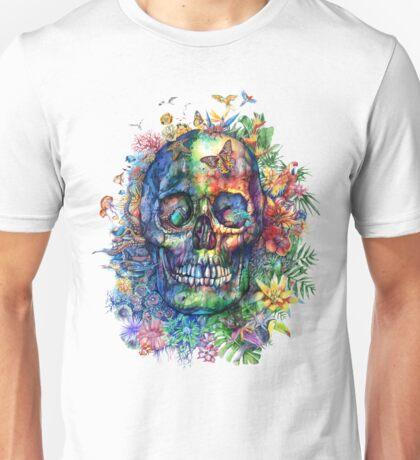 tropical skull Unisex T-Shirt