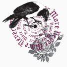 Raven Bird Never More Circle by Zehda