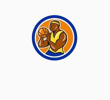African-American Basketball Player Shooting Cartoon Unisex T-Shirt