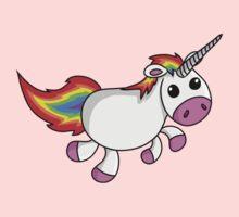 Cute Cartoon Unicorn One Piece - Short Sleeve