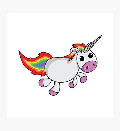 Cute Cartoon Unicorn Photographic Print