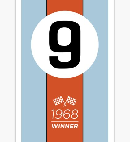 1968 Race Winner #9 Racing livery Sticker