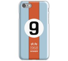 1968 Race Winner #9 Racing livery iPhone Case/Skin