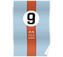 1968 Race Winner #9 Racing livery Poster