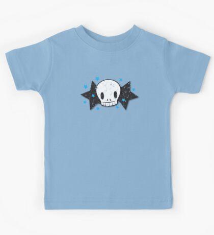 Skull with stars distressed version Kids Tee