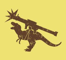 Tyrannosaur rex with a rocket launcher by jazzydevil