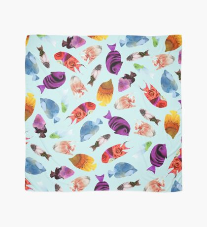 Fish shaped Flowers Scarf