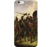 John Mix Stanley - Osage Scalp Dance. People portrait: party, woman and man, people, family, female and male, peasants, crowd, romance, women and men, city, home society iPhone Case/Skin