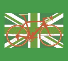 Bike Flag United Kingdom (Green) (Big - Highlight) One Piece - Short Sleeve
