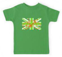Bike Flag United Kingdom (Green) (Big - Highlight) Kids Tee