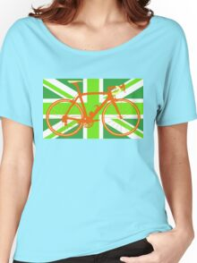 Bike Flag United Kingdom (Green) (Big - Highlight) Women's Relaxed Fit T-Shirt
