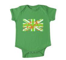 Bike Flag United Kingdom (Green) (Big - Highlight) One Piece - Short Sleeve