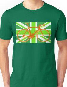 Bike Flag United Kingdom (Green) (Big - Highlight) Unisex T-Shirt