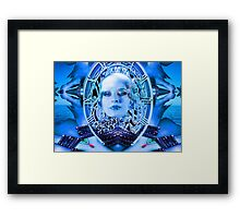 Clockwork Blue Framed Print