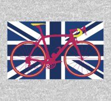 Bike Flag United Kingdom (Blue) (Big - Highlight) One Piece - Long Sleeve