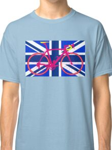 Bike Flag United Kingdom (Blue) (Big - Highlight) Classic T-Shirt