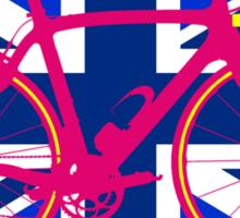 Bike Flag United Kingdom (Blue) (Big - Highlight) Sticker