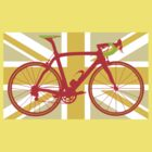 Bike Flag United Kingdom (Yellow) (Big - Highlight) by sher00