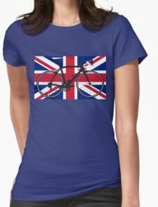 Bike Flag United Kingdom (Big - Highlight) Womens Fitted T-Shirt