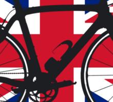 Bike Flag United Kingdom (Big - Highlight) Sticker