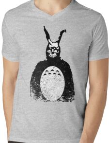 Donnie Darko Totoro Mash Up Mens V-Neck T-Shirt