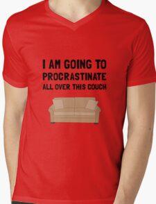 Procrastinate Couch Mens V-Neck T-Shirt