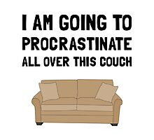 Procrastinate Couch Photographic Print