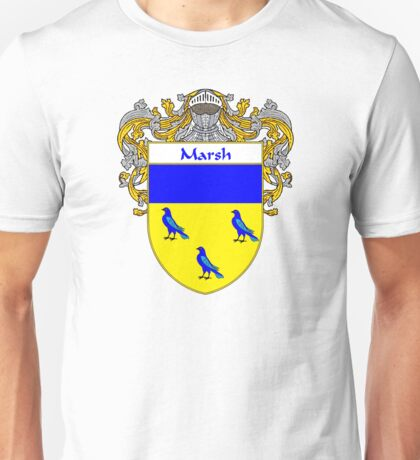 Marsh Coat of Arms/Family Crest Unisex T-Shirt