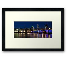London at Night - Office's on the Thames Framed Print