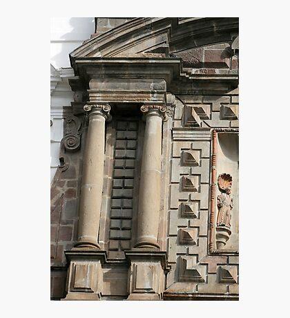 Stonework on San Francisco Church Photographic Print