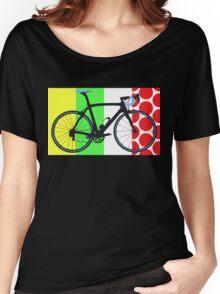 Bike Tour de France Jerseys (Vertical) (Big - Highlight)  Women's Relaxed Fit T-Shirt