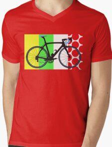 Bike Tour de France Jerseys (Vertical) (Big - Highlight)  Mens V-Neck T-Shirt