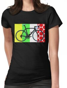 Bike Tour de France Jerseys (Vertical) (Big - Highlight)  Womens Fitted T-Shirt